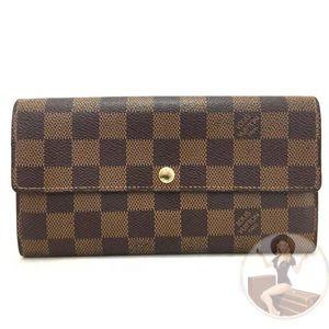 Louis Vuitton Damier Sarah Long Bifold Wallet